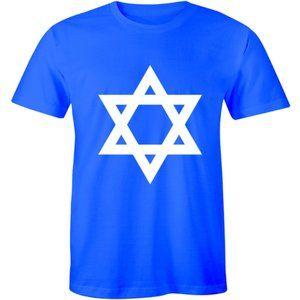 Hanukkah Jewish Star of David Menorah Mens T-shirt